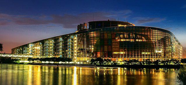 Bild på Europaparlamentet i Strasbourg