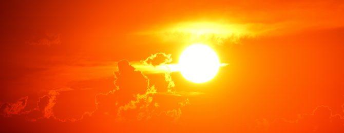 Bild på solnedgång.