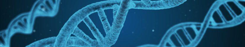 Blå DNA-spiraler