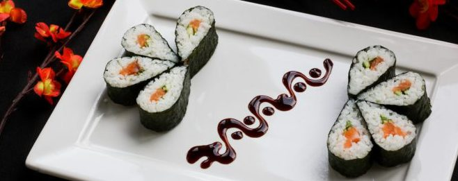 Bild på sushi.